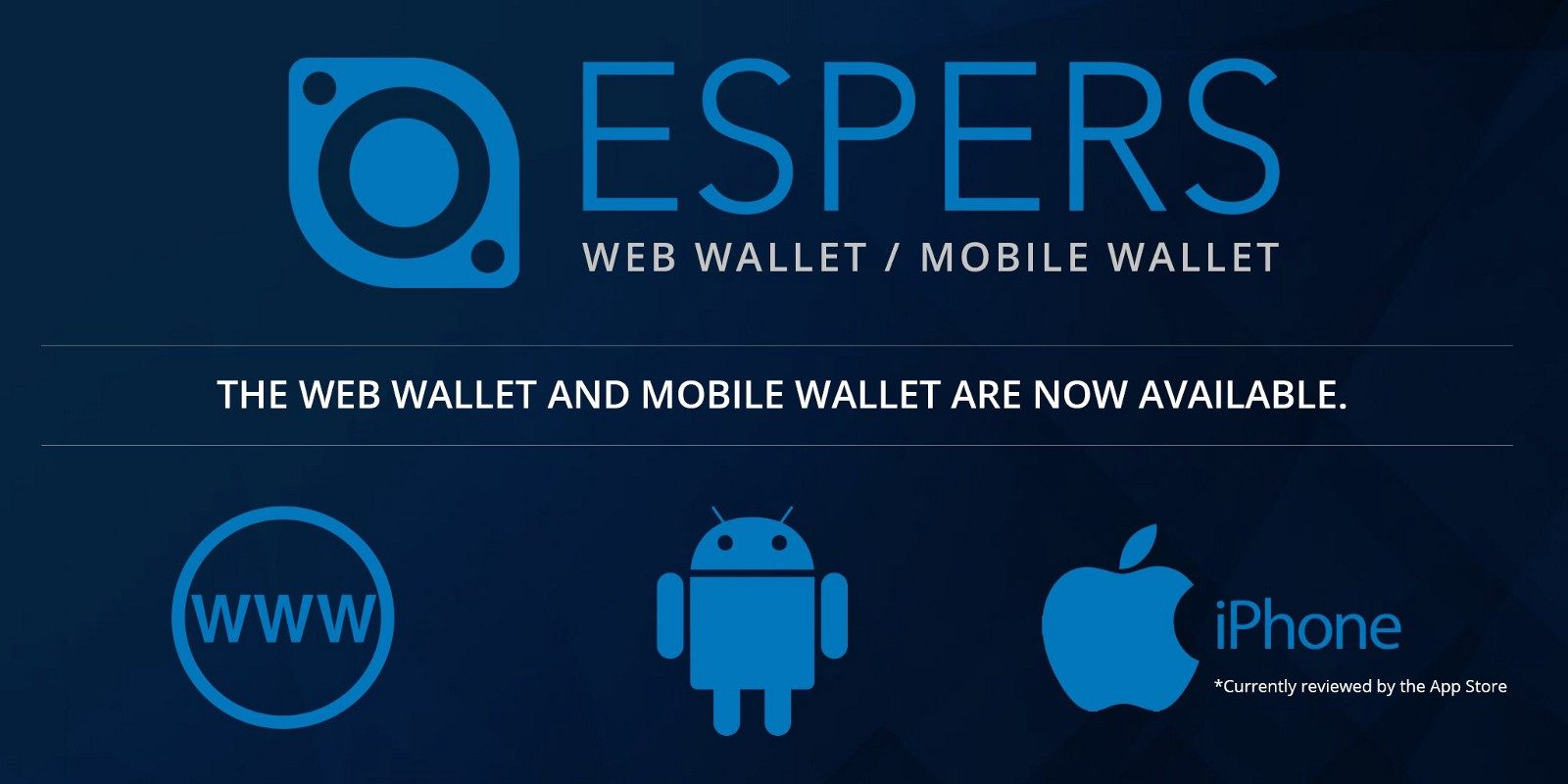 Espers web wallet