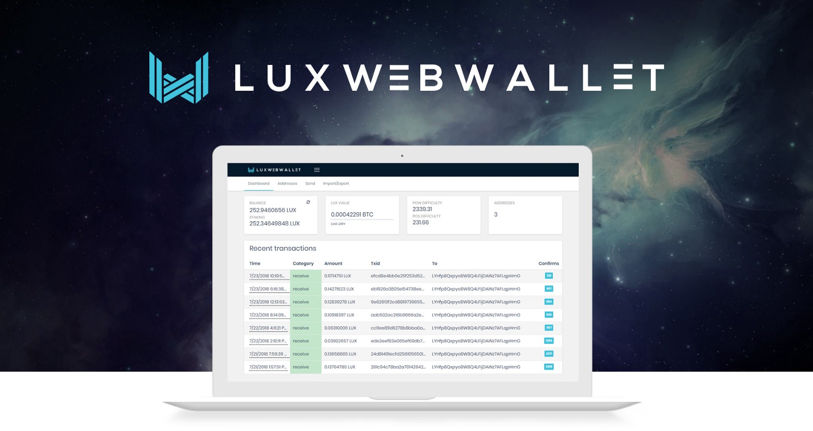 Lux coin web wallet