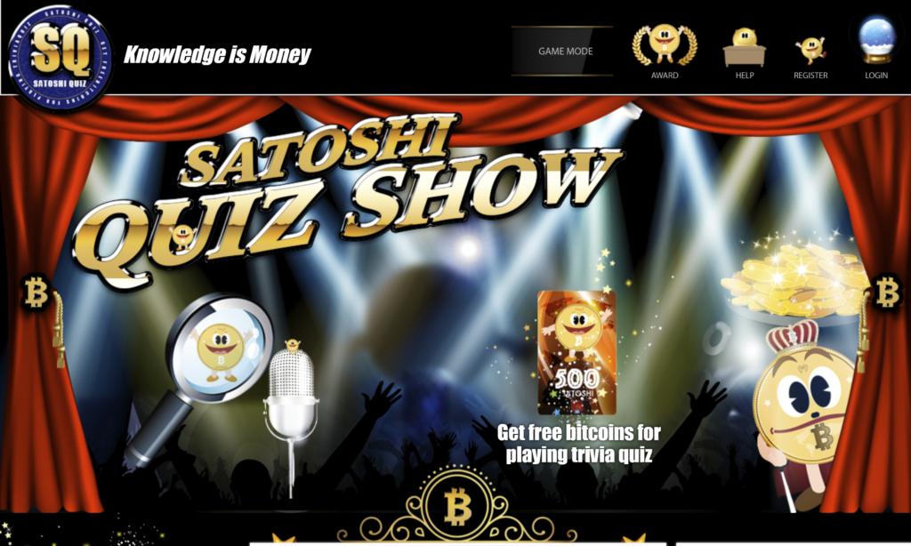 Satoshi Quiz homepage