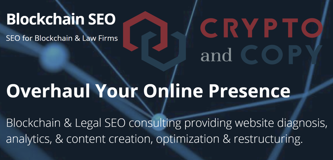 Blockchain SEO Crypto and Copy Partnership