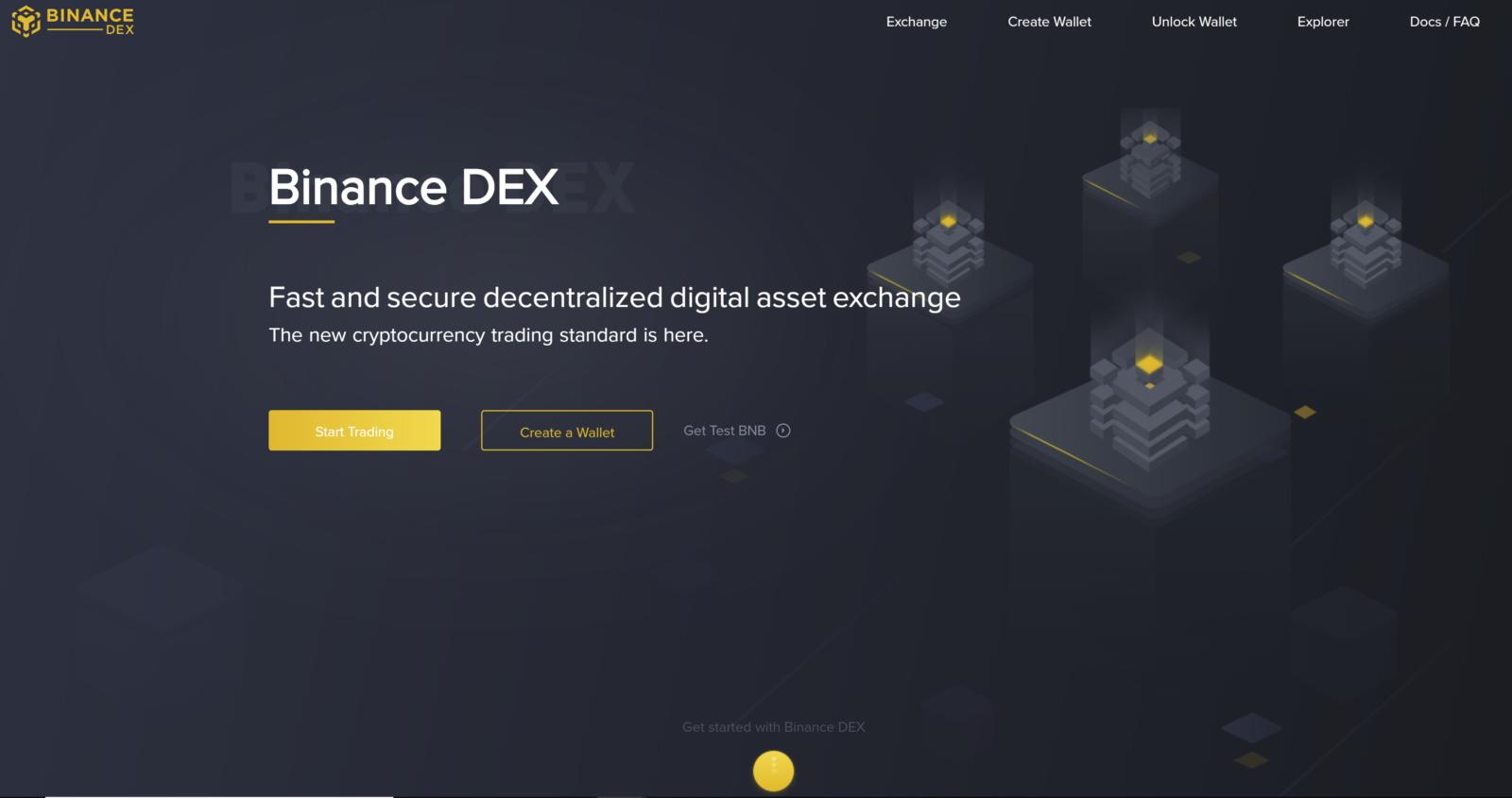 Binance DEX Testnet Launch