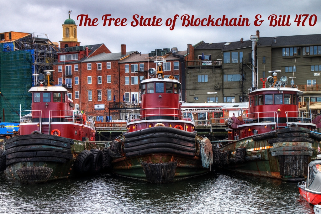 New Hampshire Bill 470 Portsmouth New hampshire blockchain