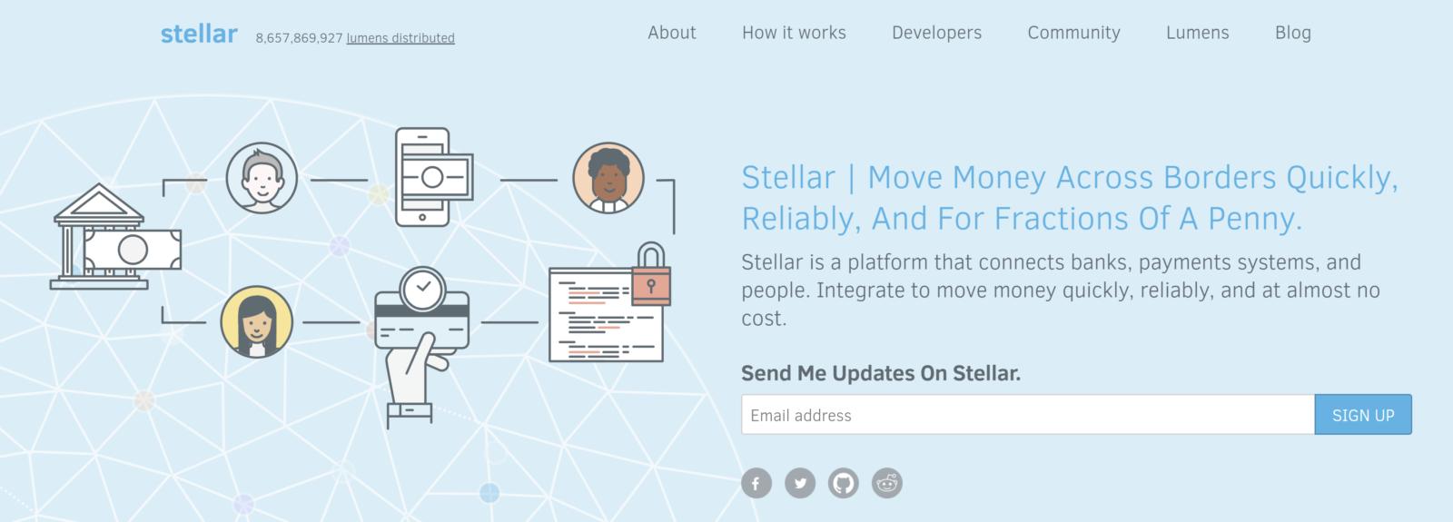 Stellar lumens homepage
