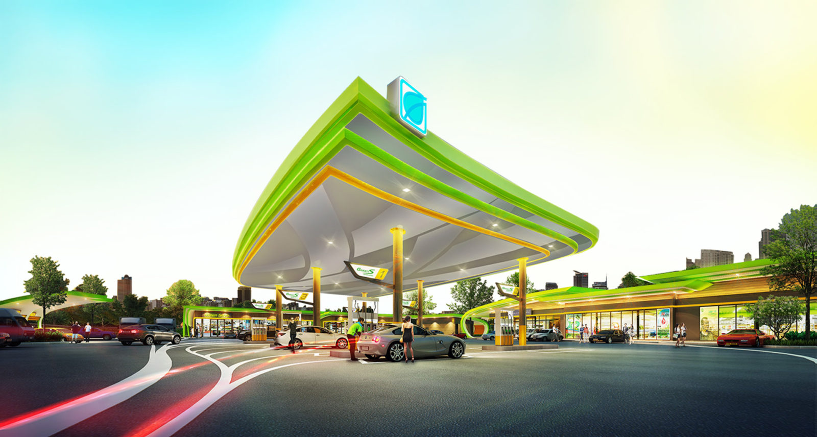 bangchak gas station blockchain