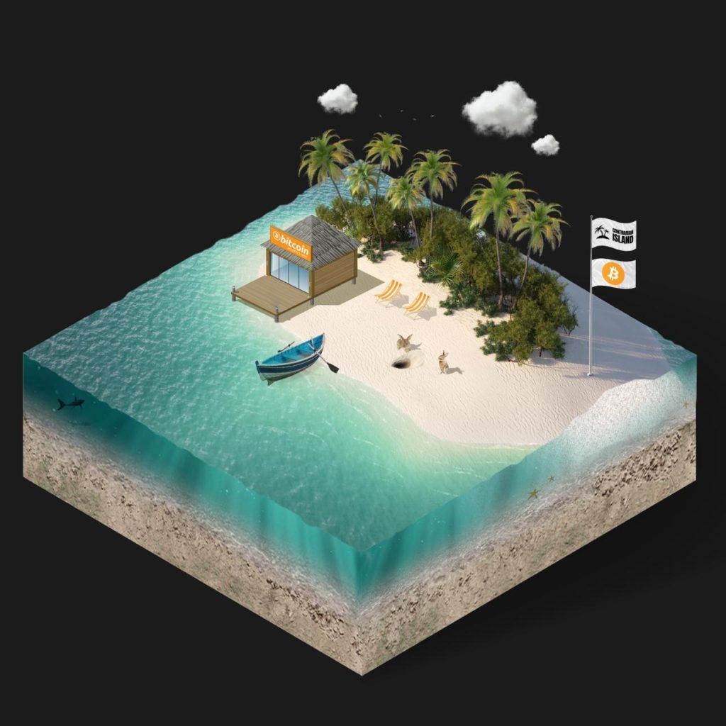 Contrarian Island Bitcoin Podcast Logo