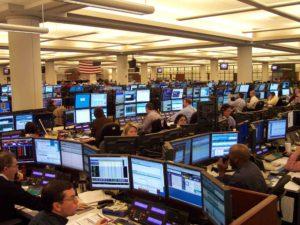 trading room floor