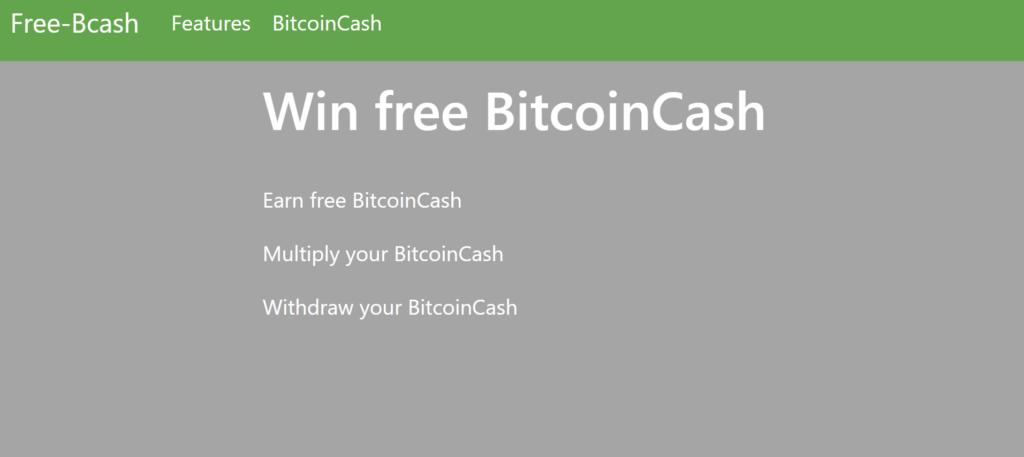 Free-Bcash.com faucet